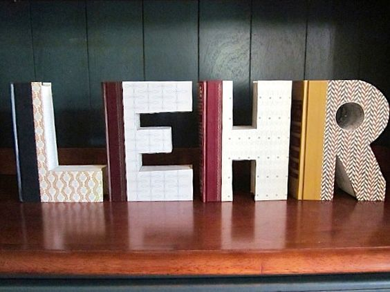 Letter Books by BreathOfFreshAyers on Etsy, $40.00