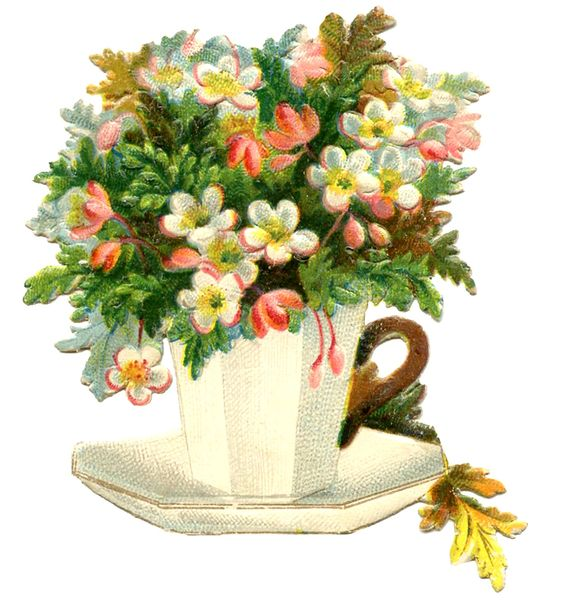 Vintage Teacup Image - Flowers - Mother's Day - Graphics Fairy: