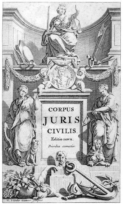 Corpus juris civilis, Amsterdam 1681
