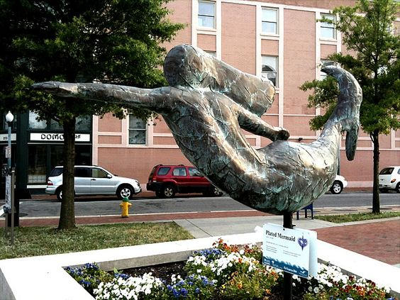 Plated Mermaid by Ed Gibbs    Tidewater Community College by toddytrax, via Flickr