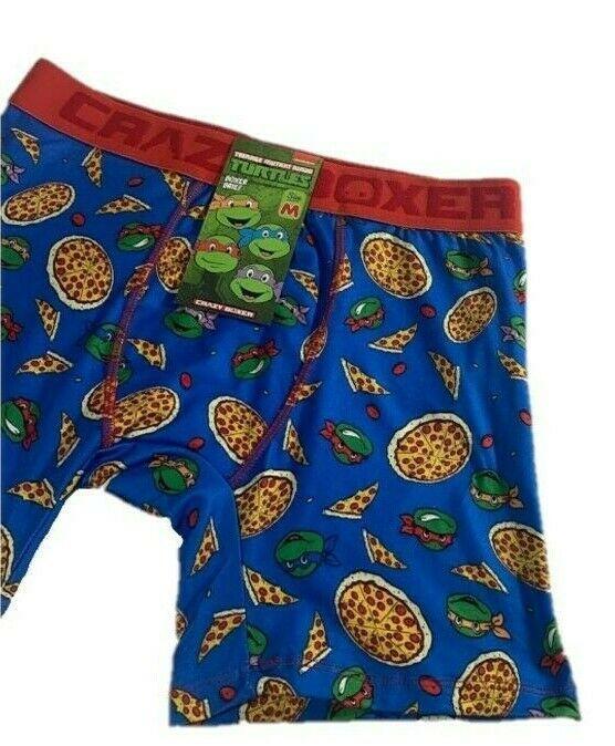 Teenage Mutuant Ninja Turtles Boxers Pizza Box Underwear Mens Briefs Sleepwear T