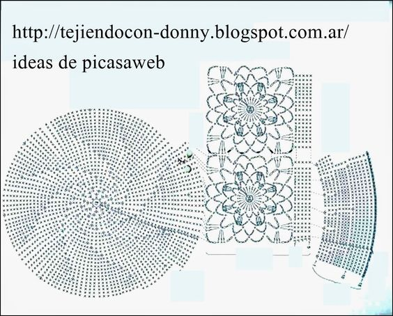 Crochet ganchillo patrones graficos crochet damas - Gorritos bebe ganchillo ...