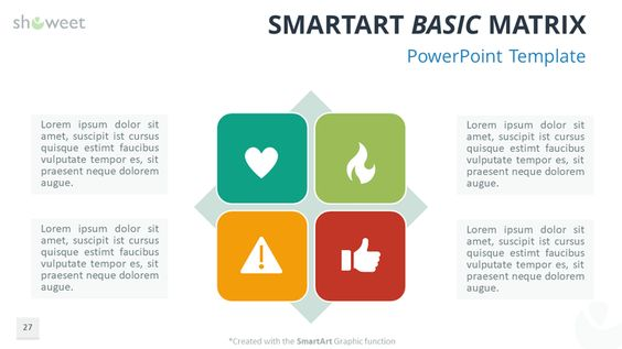 Free PowerPoint SmartArt Basic Matrix Charts \ Diagrams for - smartart powerpoint template