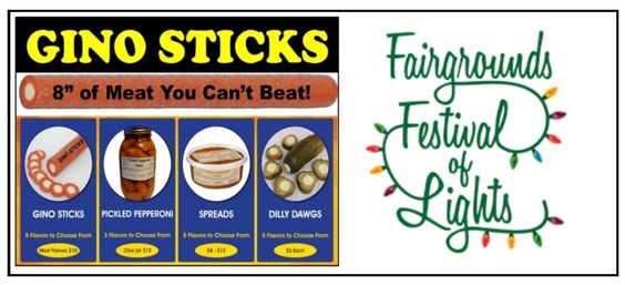 Gino Sticks at the Fairgrounds Festival of Lights in Hamburg, NY from November to December