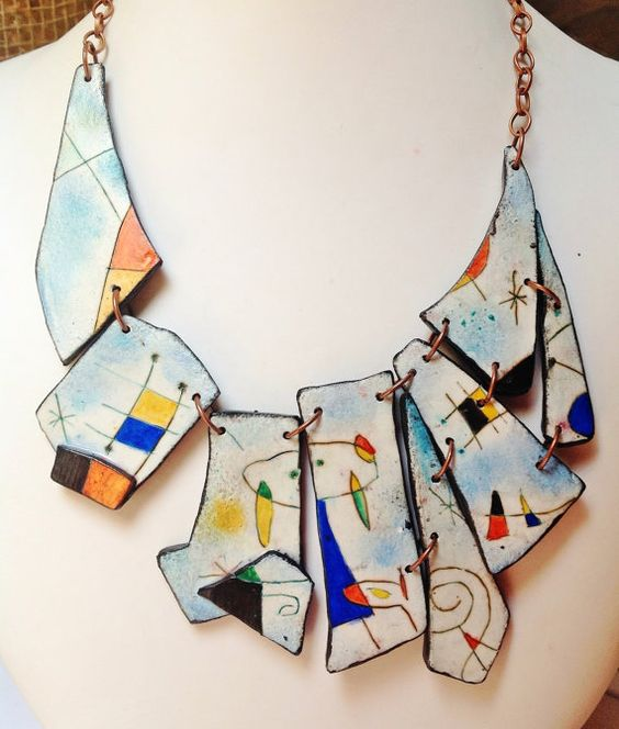 RESERVED  DON'T BUY  Mde to order  Mirò necklace by ImpastArte