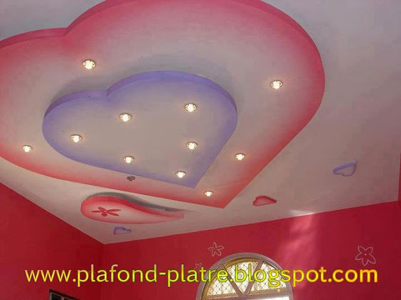 Faux plafond en platre suspendu d coration id al faux for Decoration de plafond en platre