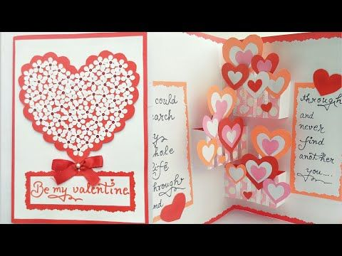 Diy Pop Up Valentine Day Card How To Make Pop Up Card For