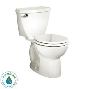 $140 American Standard Cadet 3 Right Height Complete 2-Piece 1.28 GPF Single Flush Round Toilet in White 3377128ST.020 at The Home Depot - Mobile