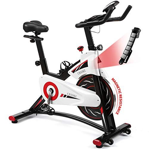 Exercise Bike Chaoke Indoor Cycling Bike Stationary Spin Bike For Home Cardio Workout With Whisper In 2020 Biking Workout Cardio Workout At Home Stationary Spin Bike