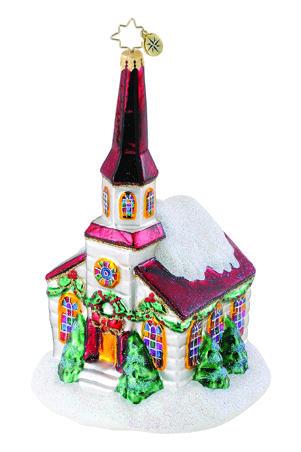 Christmas Church, Radko Style# 1015114 CHRISTOPHER RADKO - christmas decors