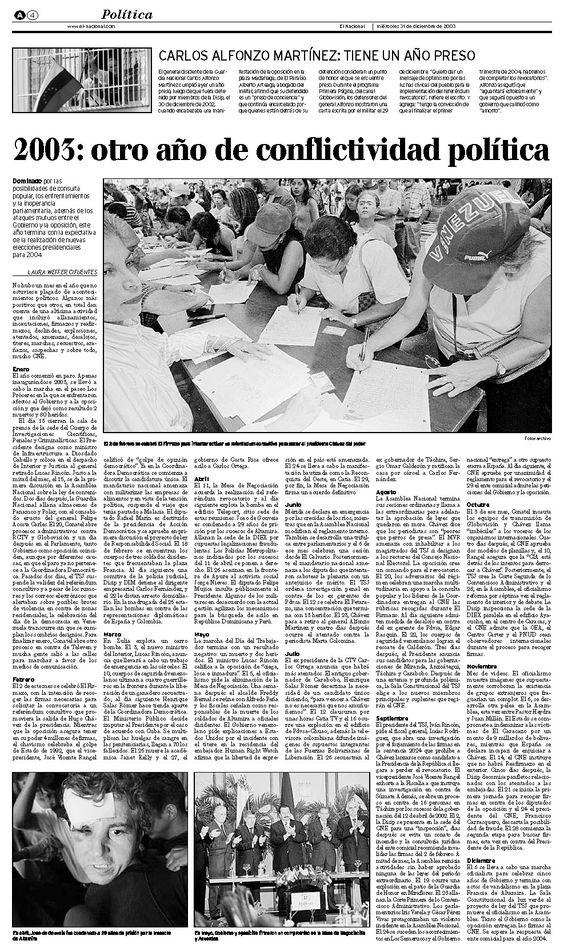 Publicado el 31 de diciembre de 2003