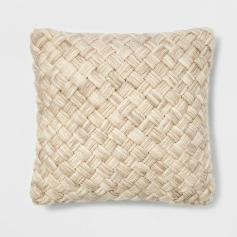 Chunky Woven Square Throw Pillow Threshold