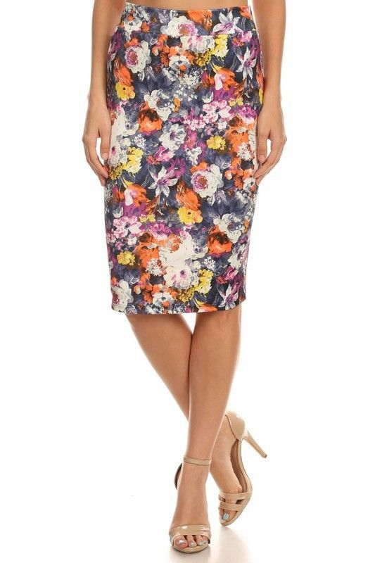 Electric Ladyland Pencil Skirt