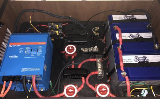 RV Electrical Upgrade: Part 2 – Battle Born Lithium Batteries & Victron  Inverter | Rv solar power system, Rv solar power, Rv upgradesPinterest