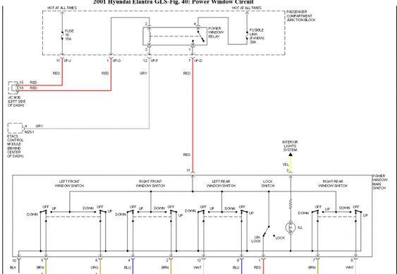 18 Car Window Switch Wiring Diagram Car Diagram Wiringg Net Car Window Hyundai Accent Diagram