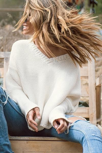 Ivory Layer Me Pullover