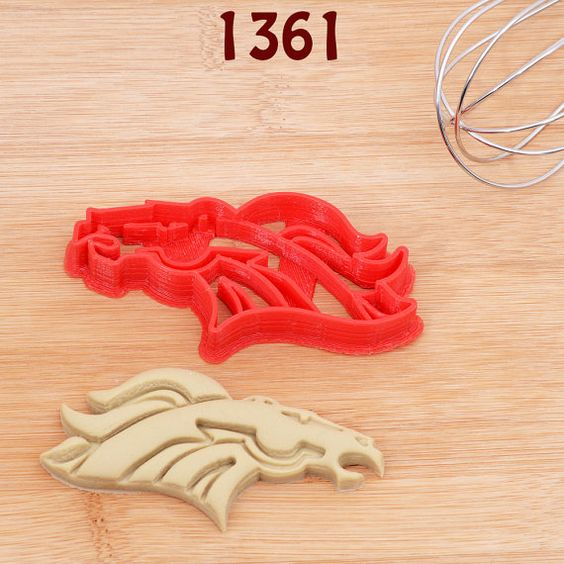 Broncos Cookie Cutter ~ Etsy listing at https://www.etsy.com/listing/260450670/denver-broncos-cookie-cutter-denver