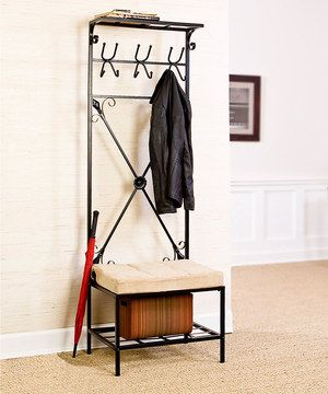 Look what I found on #zulily! Classic Entryway Storage Rack & Bench by Southern Enterprises #zulilyfinds