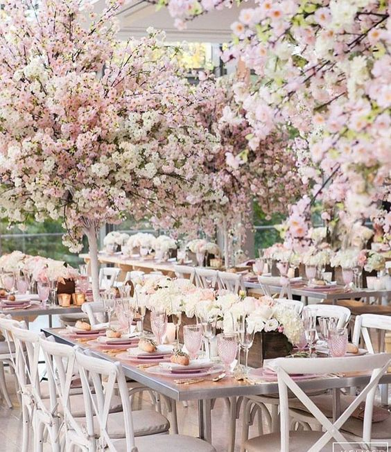 The Latest Three Cheers For Cherry Blossoms Cherry Blossom Theme Blossom Tree Wedding Rose Gold Wedding Decor