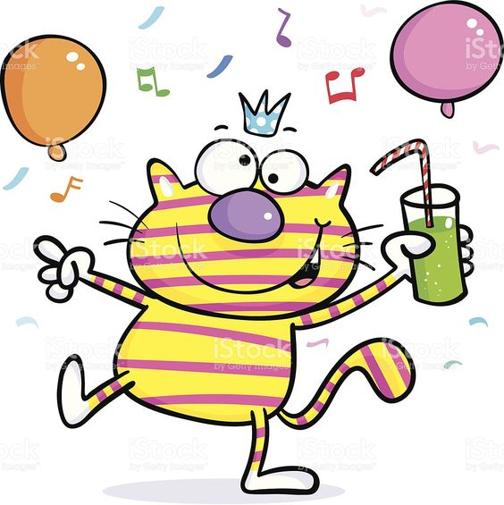 Image result for party cats clipart