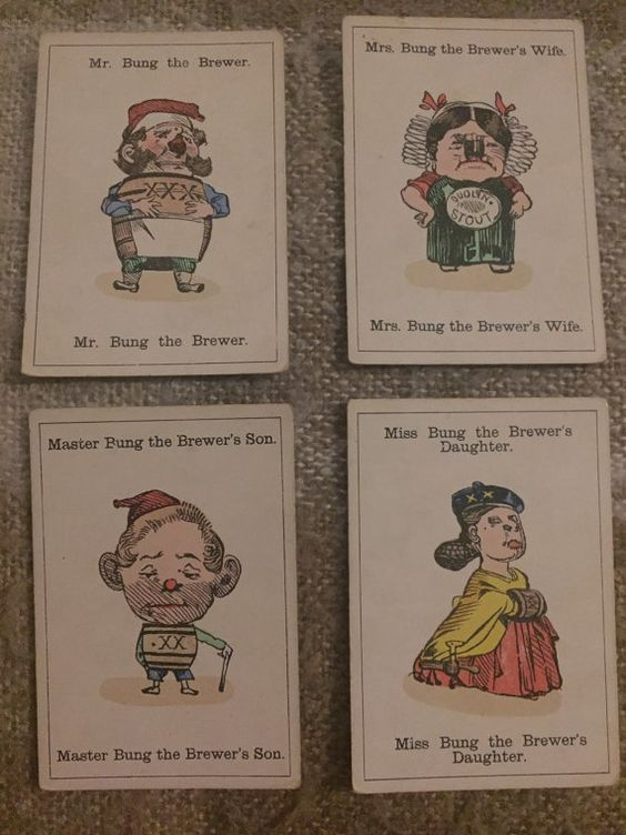 Pub Brewers brewery happy family cards set by ShirleysThriftShop