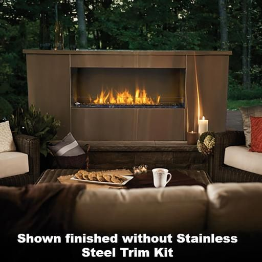 Napoleon Galaxy One Sided Outdoor Linear Gas Fireplace Gss48