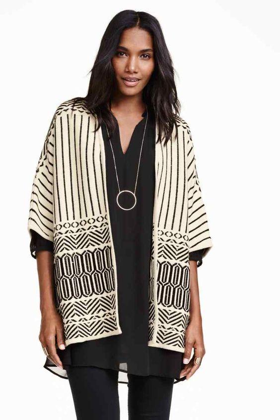 Casaco de malha jacquard | H&M