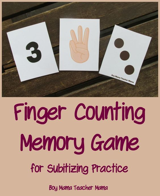 Teacher Mama: Finger Counting Memory Game for Subitizing {After School Linky}