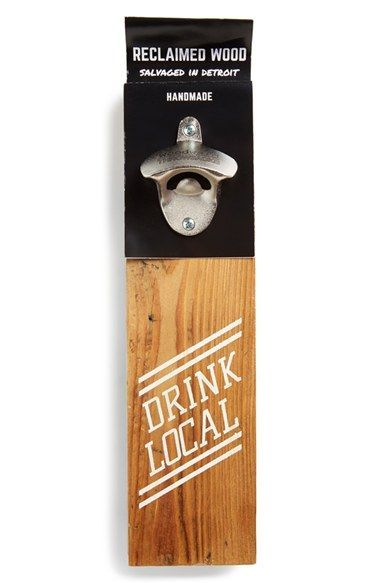 WOODWARD THROWBACKS 'Drink Local' Bottle Opener Sign available at #Nordstrom