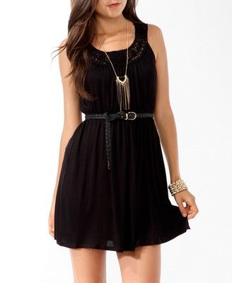 vestido negro algo mas casual