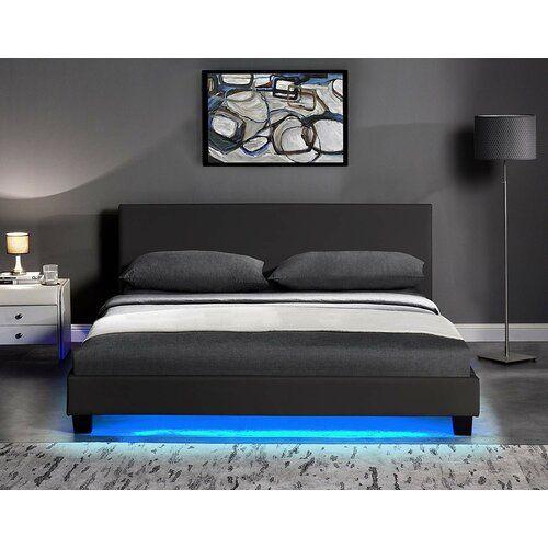 Darden Upholstered Bed Frame Metro Lane Colour Black Size Small