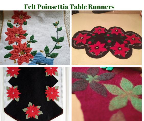 Felt Poinsettia Table Runners
