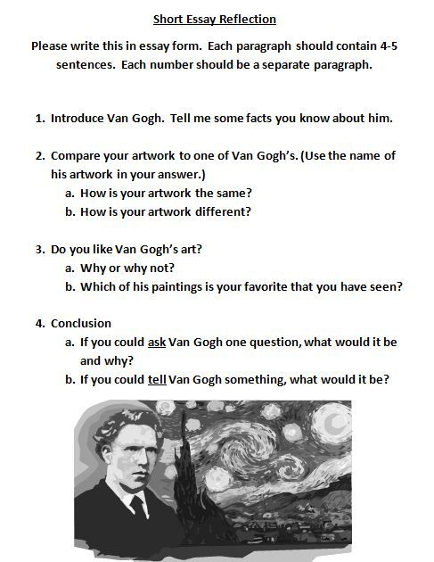 van gogh essay Vincent van gogh created this painting in 1889 and was born in 1853  i  started thinking of the aims and objectives for this reflective essay,.