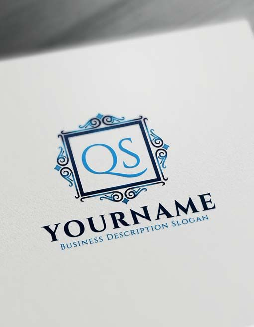 Free Vintage Frame Logo Creator Letter Logo Decor Maker