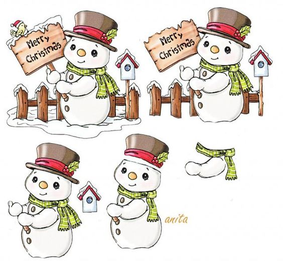 bonhomme de neige | carte | Pinterest | Photos