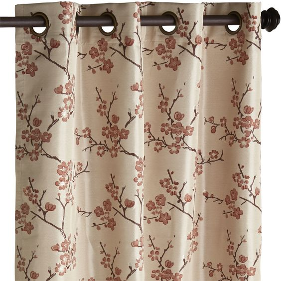 Cherry Blossom Curtain - Coral | Pier 1 Imports