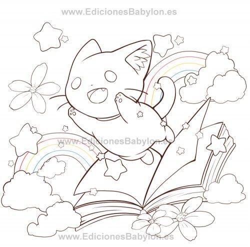 Dibujos Anime Kawaii Para Colorear ~ Ideas Creativas Sobre Colorear