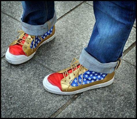 Wonder Woman shoes.  Whhaaaaaat?!