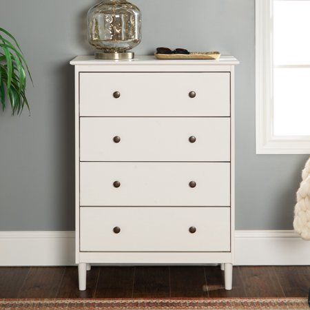 Jules 4 Drawer White Dresser By Bellamy Studios Size 40 Inch X 16