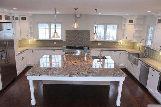 Olympia stone kitchen from our quarry to your home for Lennon granite pictures