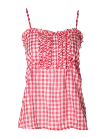 Womens Checked Cami