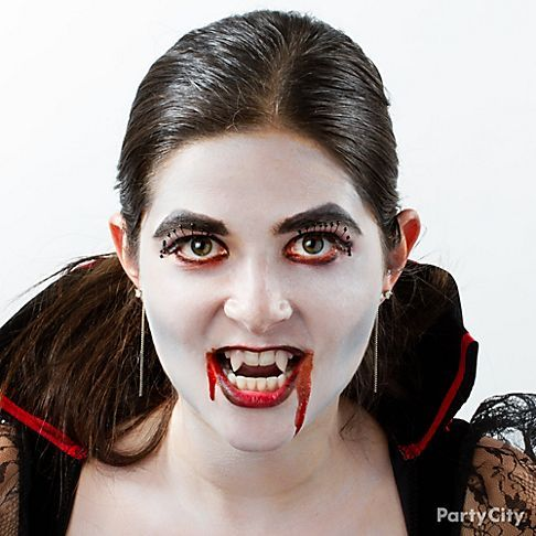 child vampire makeup idea for halloween crafts and