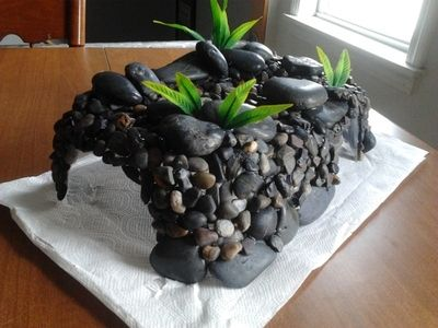 diy hides~I like the rocks and they have some .99 plants I can get at Petsmart!