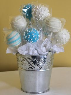 Vanilla Cake Pop Bouquet