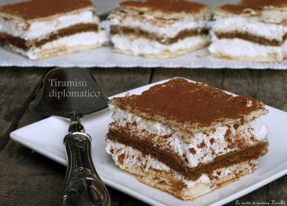 TIRAMISU ' DIPLOMATICO, ricetta senza uova crude | Tiramisu