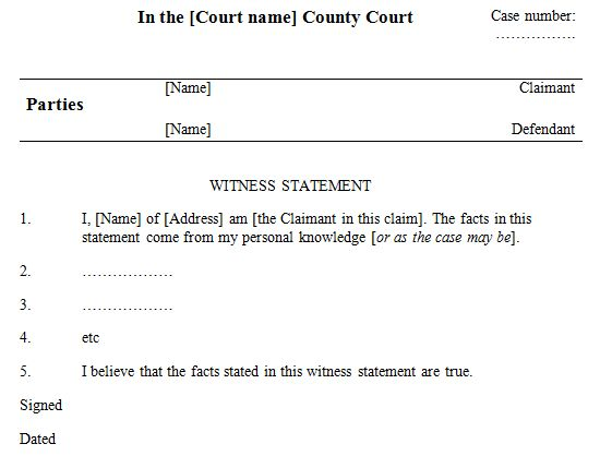 Witness Statement Template we the people who are not bar members - witness letter sample