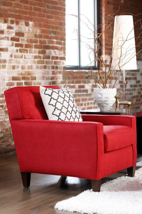 Red Accent Chair With Ottoman Best, Red Accent Chair Living Room