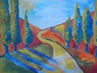 Finger Painted Fauvist Landscapes