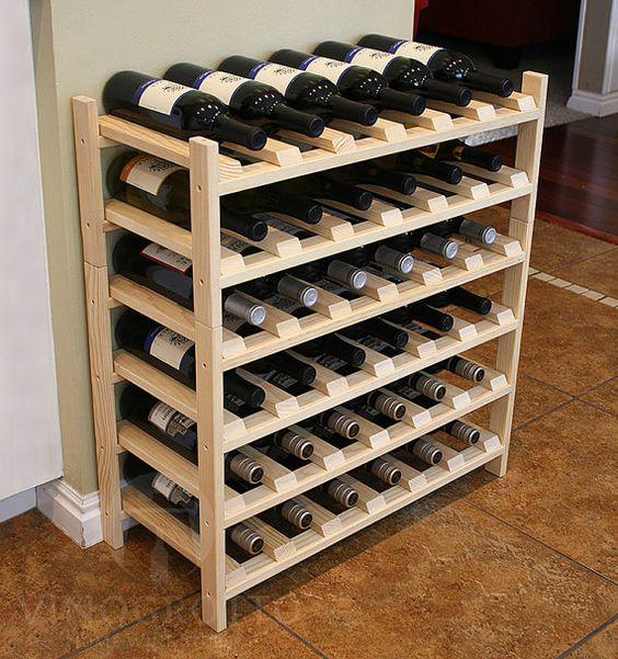 36 Bottle Wine Shelf Pine by VinoGrotto by VinoGrotto on Etsy