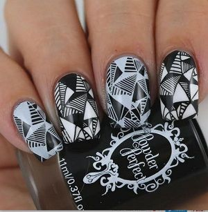 Powder Perfect- Stamping Polish - Black